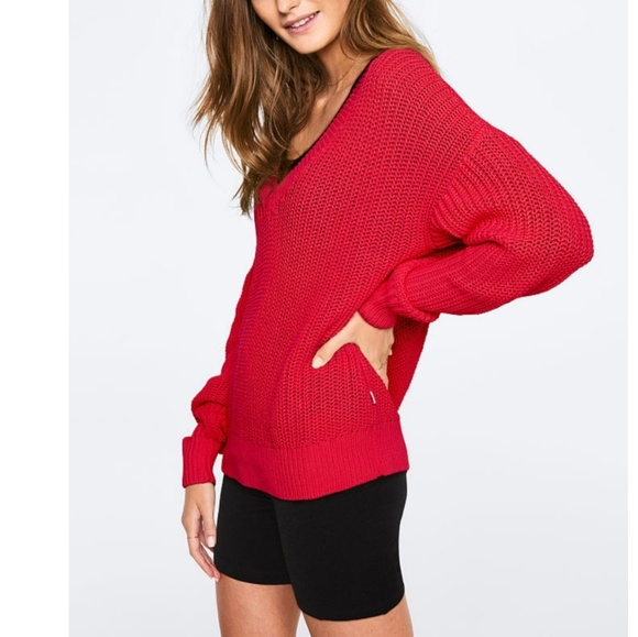 PINK Victoria's Secret Sweaters - VS PINK HERITAGE V-NECK SWEATER